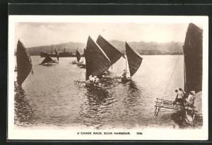 AK Fiji, Suva Harbour, A Canoe Race