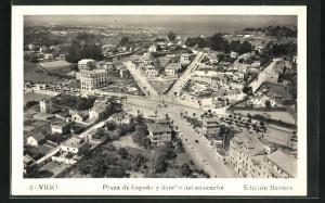 AK Vigo, Plaza de Espana y detalle del ensanche