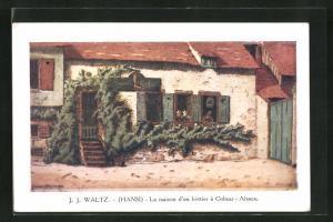 Künstler-AK Hansi: Colmar, La Maison d`un Bottier