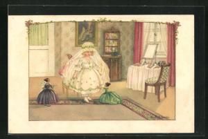 Künstler-AK Pauli Ebner: Kleine Braut mit Puppen