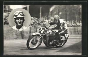 AK Wilhelm Herz auf Auto Union-DKW, Motorradrennen