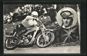 AK Ewald Kluge, Deutscher Motorradmeister 1936 & 37 auf Auto Union-DKW