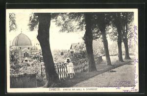 AK Einbeck, Partie am Wall und Synagoge