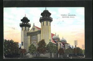 AK Denver, CO, Temple Emanuel, Ansicht der Synagoge