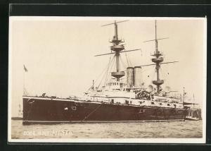 AK H.M.S. Jupiter auf hoher See, Kriegsschiff