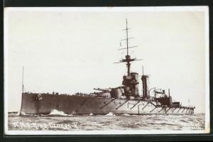 AK Kriegsschiff H.M.S. King George V in voller Fahrt