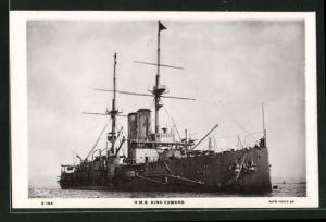 AK H.M.S. King Edward auf hoher See, Kriegsschiff