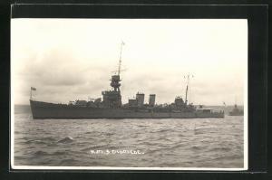 Foto-AK H.M.S. Diomede, britisches Kriegsschiff