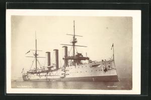 Foto-AK H.M.S. Donegal, britisches Kriegsschiff