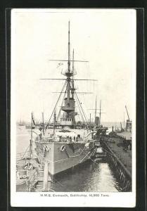 AK H.M.S. Exmouth, britisches Kriegsschiff