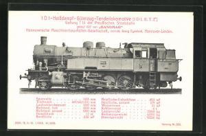 AK Eisenbahn, 8521, 1 D 1-Heissdampf-Güterzug-Tenderlokomotive, Gattung T 14 der Preussischen Staatsbahn