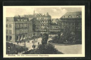 AK Elberfeld, Schwebebahn, Der neue Schwebebahnhof Döppersberg, Parkanlage