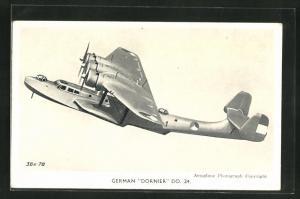 AK German Dornier DO. 24, Wasserflugzeug / Flugboot in der Luft