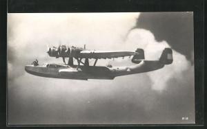 AK Dornier Wasserflugzeug in der Luft