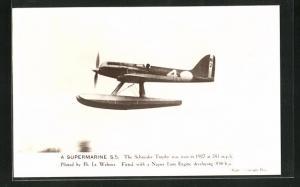 AK Wasserflugzeug Supermarine S. 5, The Schneider Trophy was won in 1927, Piloted by Flt. Lt. Webster