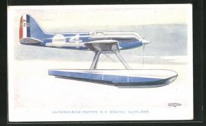 AK Wasserflugzeug Supermarine Napier S. 5, Racing Seaplane