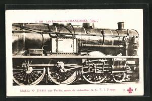 AK Französische Eisenbahn-Lokomotive Pacific No 231-616