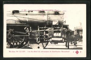 AK Französische Eisenbahn-Lokomotive No 121 058 Etat