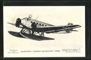 AK Dundee, Valentine & Sons Ltd., Wasserflugzeug The Junkers JU 52 / 3 mW