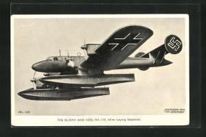 AK The Blohm and Voss Ha 139, Wasserflugzeug mit