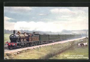 AK Paris-Calais Express, Französische Eisenbahn der Northern Railway of France