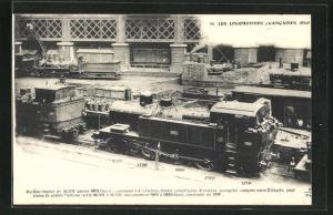 AK Französische Eisenbahn-Lokomotive Etat No 32-501