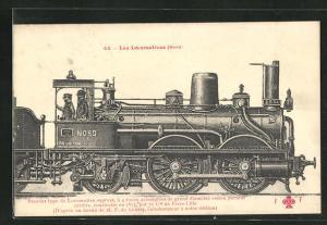AK Alte französische Eisenbahn-Lokomotive der Nord