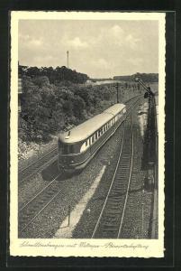 AK Schnelltriebwagen mit Mitropa-Bewirtschaftung, Eisenbahn