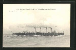 AK Amiral-Makaroff, Croiseur-Cuirasse Russe, russisches Kriegsschiff