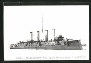 AK Russisches Kriegsschiff Amiral Makaroff 1906