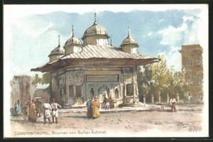 Künstler-AK Themistokles von Eckenbrecher: Constantinopel, Brunnen von Sultan Achmet