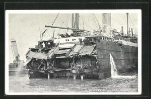 AK Southampton, Geborgenes Wrack des White Star Liners Suevic