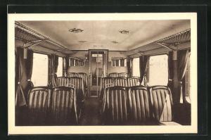 AK französische Eisenbahn, Innenansicht von Zugabteil, Automotrice Standard type 1936