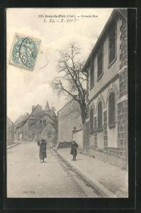 AK Ivoy-le-Pré, Grande Rue, Strassenpartie