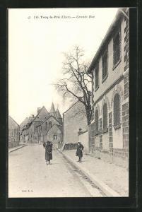 AK Yvoy-le-Pré, Grande Rue, Knaben auf einer Strasse