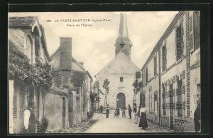 AK La Ferté-Saint-Oyr, Place de l'Eglise