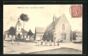 AK Villiers, La Mairie et l'Eglise