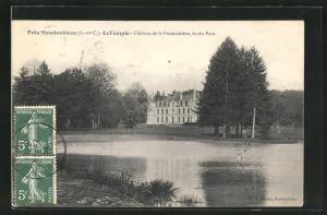 AK Mondoubleau, Le Temple, Chateau de la Fredonniere, vu du Parc