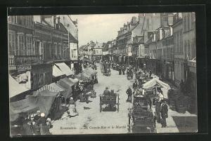 AK Romorantin, La Grande Rue et le Marché