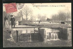 AK La Motte-Beuvron, Le Barrage sur le Beuvron