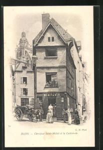AK Blois, Carrefour Saint-Michel et la Cathédrale