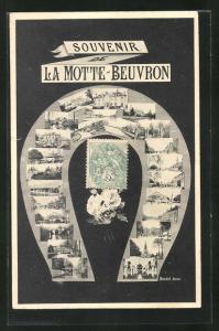 AK La Motte-Beuvron, Teilansichten vom Ort auf Hufeisen
