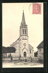 AK Les Montils, L`Église, Ansicht der Kirche