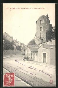 AK Blois, La Rue Gallois et la Tour de Guise
