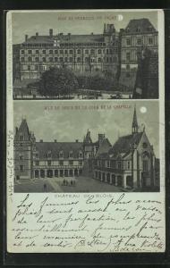 Mondschein-Lithographie Blois, Aile de Louis XII la Cour et la Chapelle