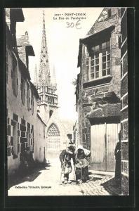 AK Pont-Croix, La Rue du Presbytère, Ortspartie