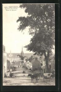 AK Pont-Croix, Quartier de la Croix, Route de Beuzec, Strassenpartie