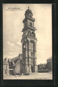 AK Landerneau, Facade de l`Eglise Saint-Thomas, Kirche