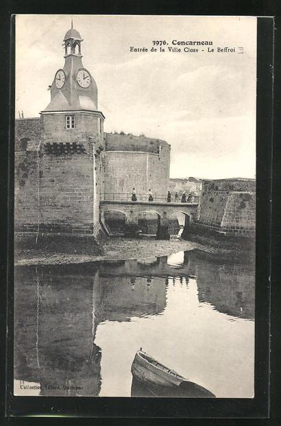 AK Concarneau, Entrée de la Ville Close, Le Beffroi, Glockenturm 0