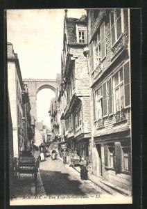 AK Morlaix, Rue Ange-de-Guernisac, Ortspartie